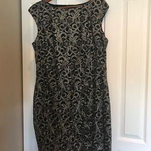 Lauren Black and Silver Dress